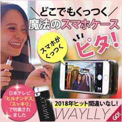 どこでもくっつくスマホケース WAYLLY(ウェイリー)ヒルナンデス・スッキリで話題となった注目商品!