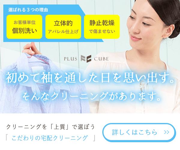 【絶対的デザイン性!!】プラスキューブ クリーニングは口コミでも人気!