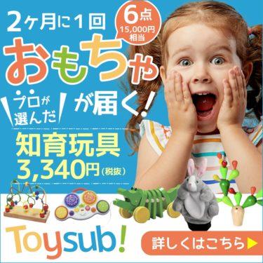 プロだけが知っている【トイサブ!】知育玩具の定額レンタルサービス(子供の年齢でカスタマイズ)