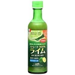 メキシコ産ライム果汁290ml ストレート100%果汁 香料・保存料不使用は、グーッド!