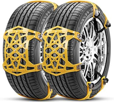 タイヤチェーン 非金属 ジャッキアップ不要 165-265mm対応の心配を吹き飛ばせます